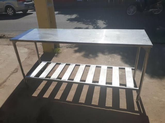 Mesa em aço inox 304 med 190 x 60 - Foto 2