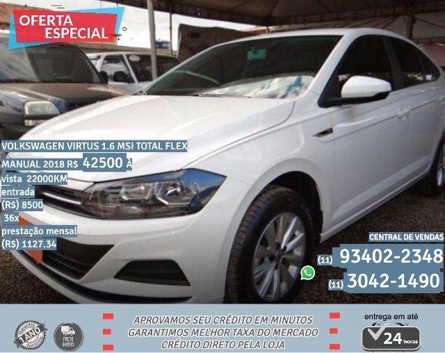 Branco Volkswagen virtus 1.6 msi total flex manual 2018 R$42500 22000Km