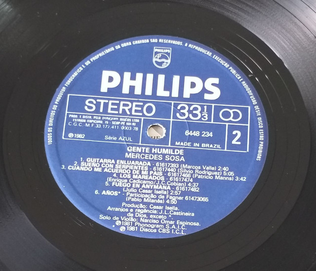 LP Vinil Mercedes Sosa 1982 - Foto 5