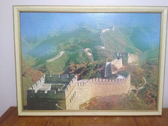 Quadro Quebra-cabeça Muralha da China - Foto 3
