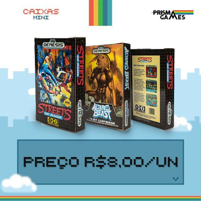 Caixa Mini Para Jogos - Megadrive - Foto 4
