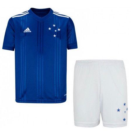 Camisa Futebol Cruzeiro Esporte Clube Azul e Branca Nova - Foto 5