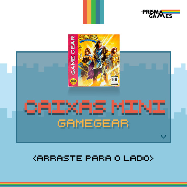Caixa Mini Para Jogos - Game Gear