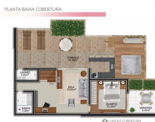 Cobertura Duplex 3 quartos -Primeira locação-Corrêas-Petrópolis - Foto 2