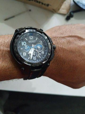 Relógio orient flytech titânio - Foto 2