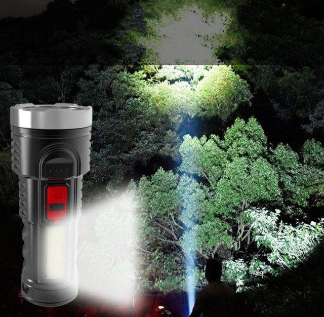 Lanterna Led Recarregável Claro Lateral Com Bateria Embutida - Foto 2