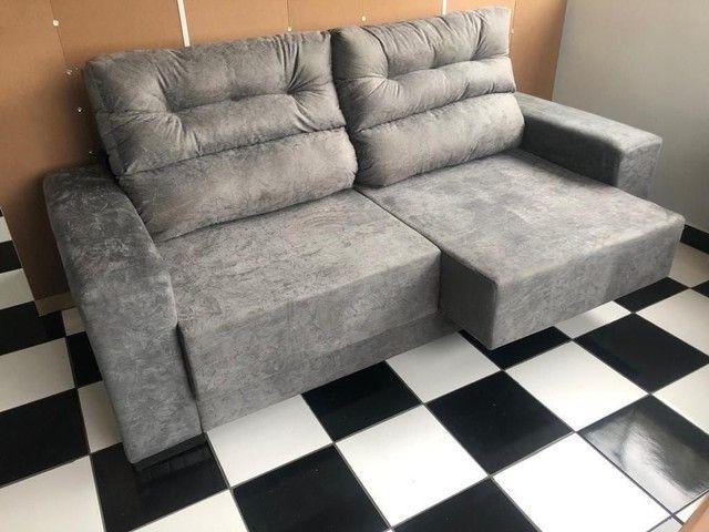 Sofá retrátil e reclinável direito de fábrica  - Foto 2