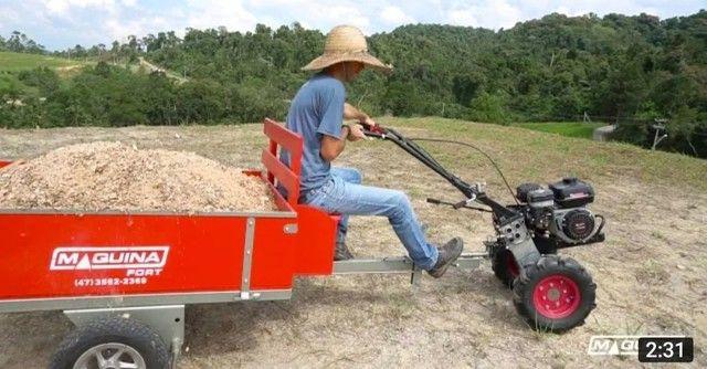 Vendo Motocultivador/Tratorito Toyama com carretinha Buffallo  - Foto 5