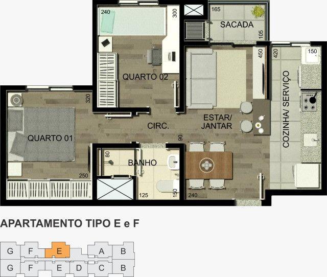 Residencial Alexandria 1 quarto - Foto 7