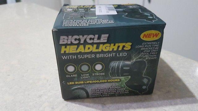Farol lanterna de bike  - Foto 2