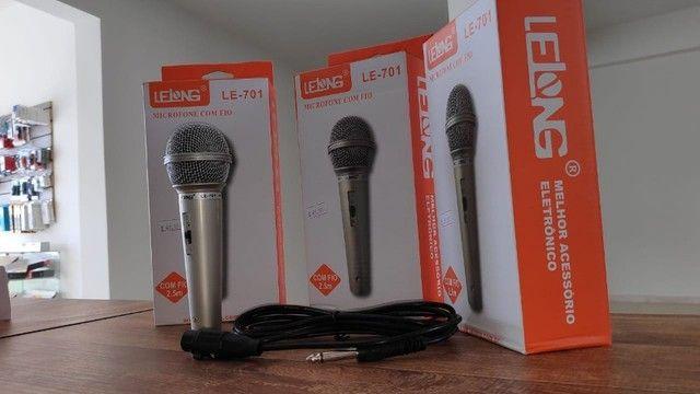 Microfone Profissional P10 com Esfera em Metal e Cabo 2.5 Metros - Foto 4