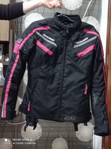 Jaqueta X11 Iron 2 Impermeável Nylon Motociclista Feminina - Rosa - Foto 2