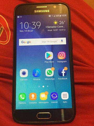 Galaxy s6 32gb azul novo