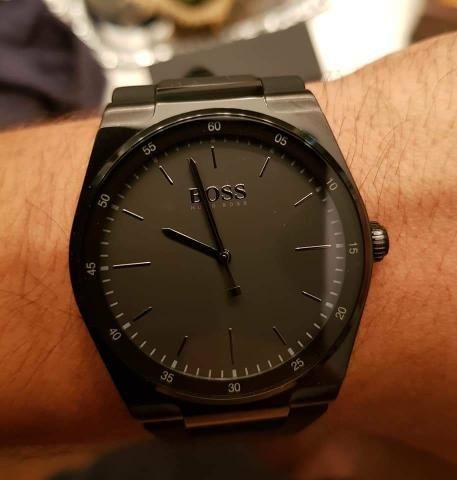 403da62967c Relógio hugo boss masculino borracha preta - 1513565 - Bijouterias ...