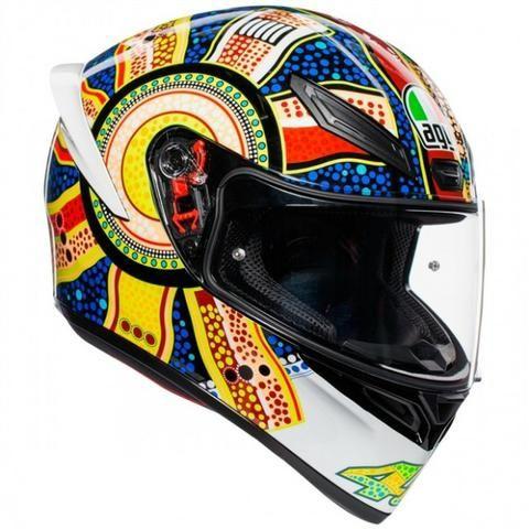 Capacete Agv K1 Dreamtime Branco Valentino Rossi Motos Sao Joao Itajai 591142963 Olx