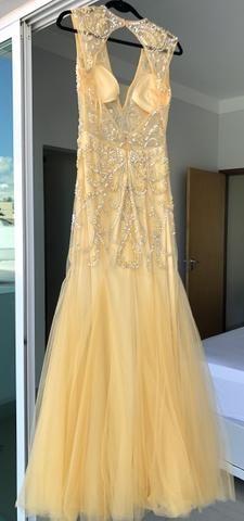 Vestido dourado bordado - Foto 5