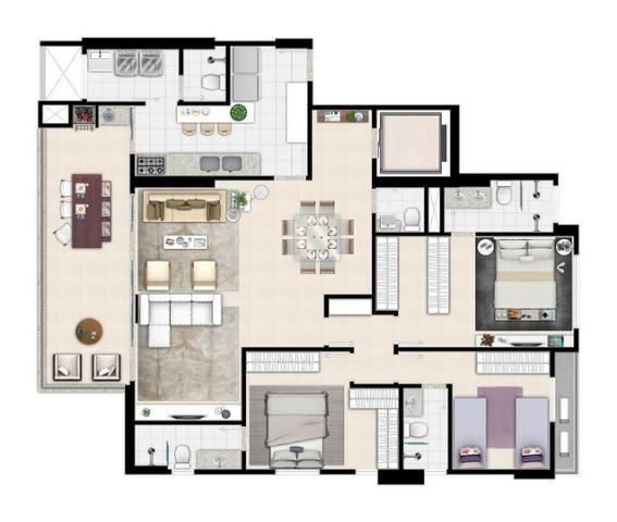 Apartamento de 3 quartos com 3 suítes no Setor Bueno - Foto 5