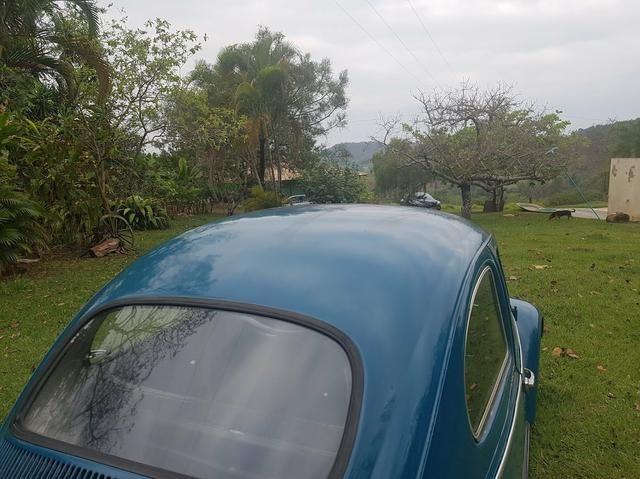 Fusca antigo 65 1965 azul relíquia - Foto 2