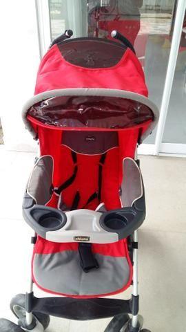 Vendo carrinho de bebê + bebê conforto + suporte para carro - Foto 3