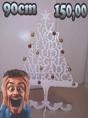 Arvore de natal em mdf com 90cm de altura - Foto 2