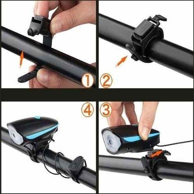 Farol Bike Led Lanterna Bicicleta Recarregável Compralider Recife Fazemos entrega - Foto 3