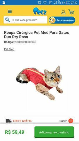 Roupa cirúrgica para gatos n° 1 - Foto 4