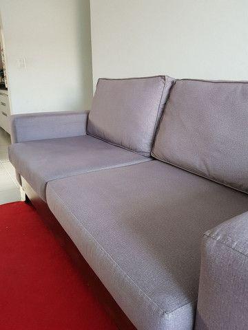 ABAIXOU!!! Vendo Sofá 3 lugares em tecido Sued - Foto 5