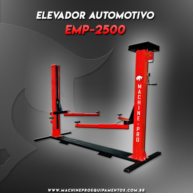 Elevador Automotivo Machine-Pro 2500 kg   Novo