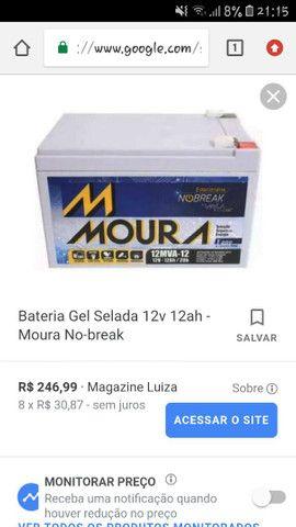 Bateria Nobreak Moura 12 Mv-12 20h (12v-12ah) semi nova  - Foto 2
