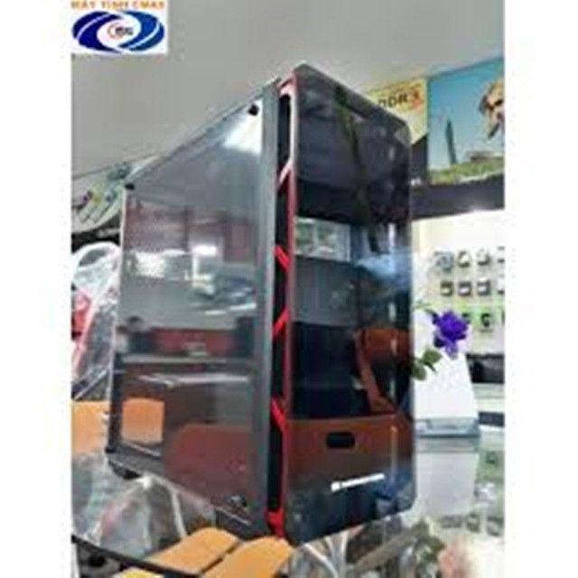 Gabinete gamer Xigmateck Astro Metal Red (sem cooler) com Vidro temperado - Foto 5