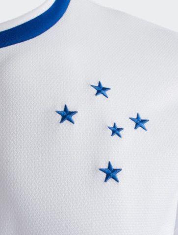 Camisa Futebol Cruzeiro Esporte Clube Azul e Branca Nova - Foto 4