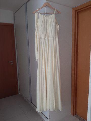 Vestido longo amarelo claro - Foto 4