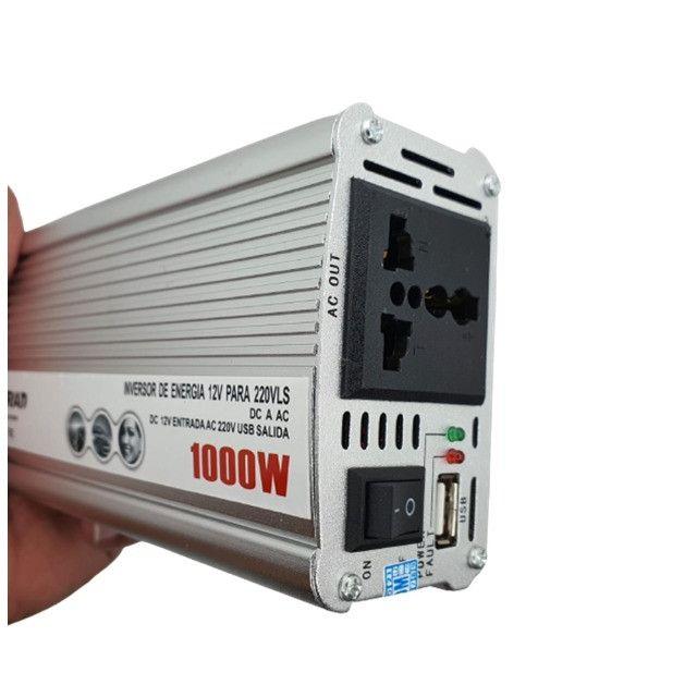 Inversor Veicular 1000w Conversor Transformado 12v Pra 220v