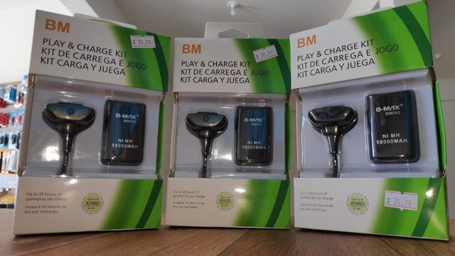 Kit Bateria para Controle de Xbox 360 (Com Cabo USB!) - Foto 4