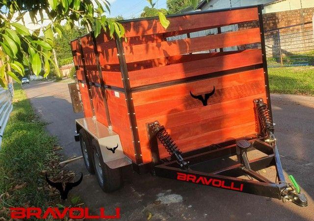 RO ' Reboque e carretinha duplo eixo BX 1.5 BRAVOLLI  - Foto 3
