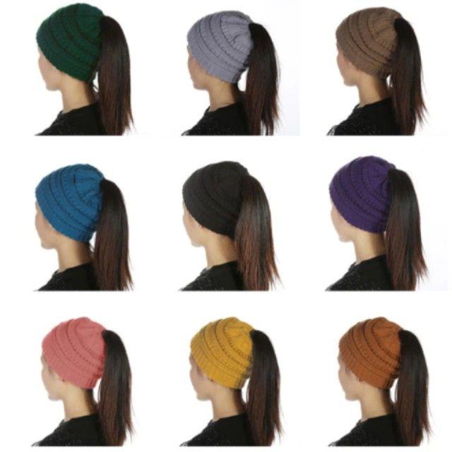 Quente inverno feminino chapéu - Foto 2