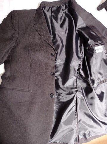 Terno masculino preto, tamanho M. - Foto 5