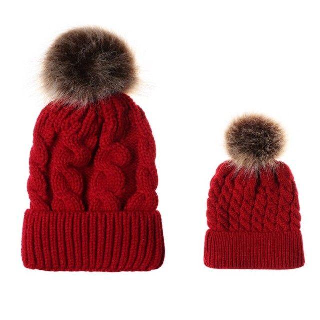 Chapéus de algodão de malha infantis, chapéus quentes e confortáveis de algodão - Foto 4