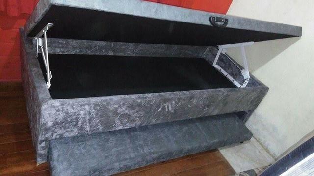 Box baú auxiliar solteiro 88x188 Preço de fabrica só 549,00!! - Foto 2