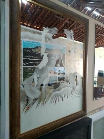 Espelho com arte em jato de areia - Foto 2