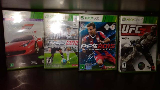 Xbox 360 4GB + 4 Jogos Originais - Foto 4