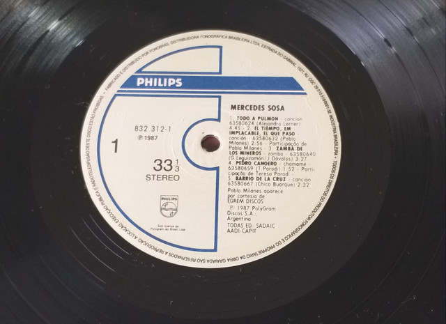 LP Vinil Mercedes Sosa 1987 - Foto 3