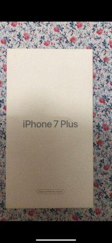 IPhone 7 Plus 32gb rose com acessórios novo - Foto 5