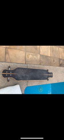 Longboard FLH + Rodas nineballs - Foto 2