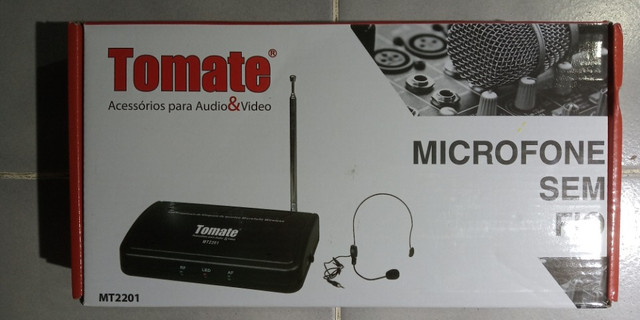 Microfone Headset sem fio Tomate MT-2201