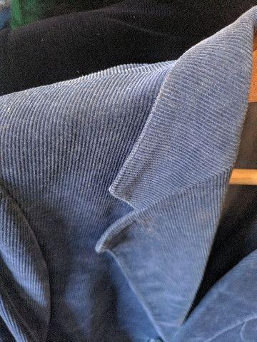 Blazer masculino azul tamanho M - Foto 3