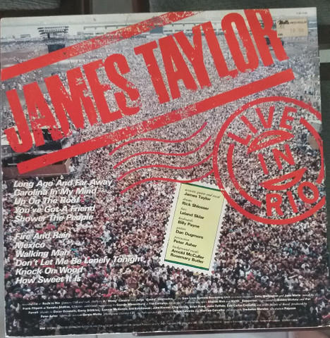LP Vinil James Taylor Live in Rio - Foto 2