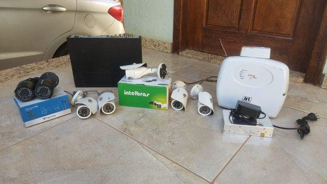 Câmera e sensor de alarme e segurança