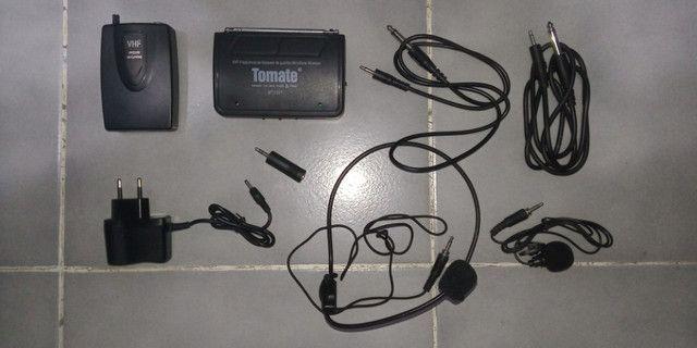 Microfone Headset sem fio Tomate MT-2201 - Foto 3