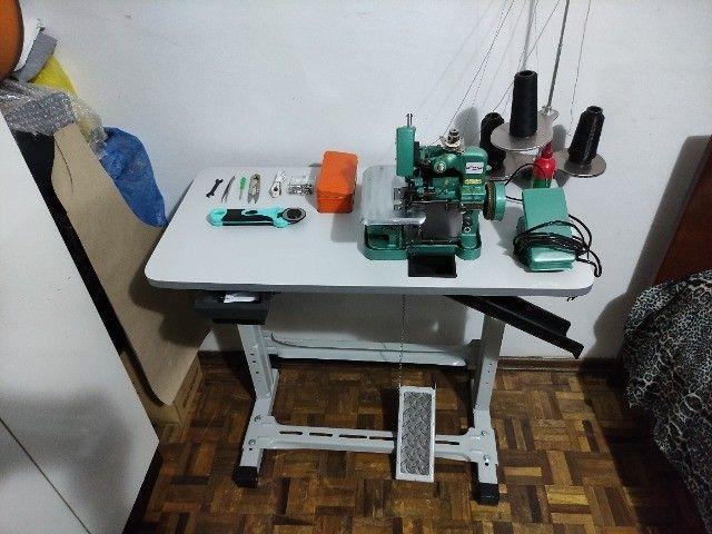 Máquina De Costura Overloque Semi Industrial Flawil + Mesa p/ Costura (GN1-6D) - Foto 2
